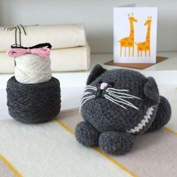 Easy Crochet Kit – Cat, Amigurumi Kitten Kit, Crochet Kit, Crochet Pattern Included, Amigurumi kits, Crochet kits,Crochet gift,diy,kit, kits