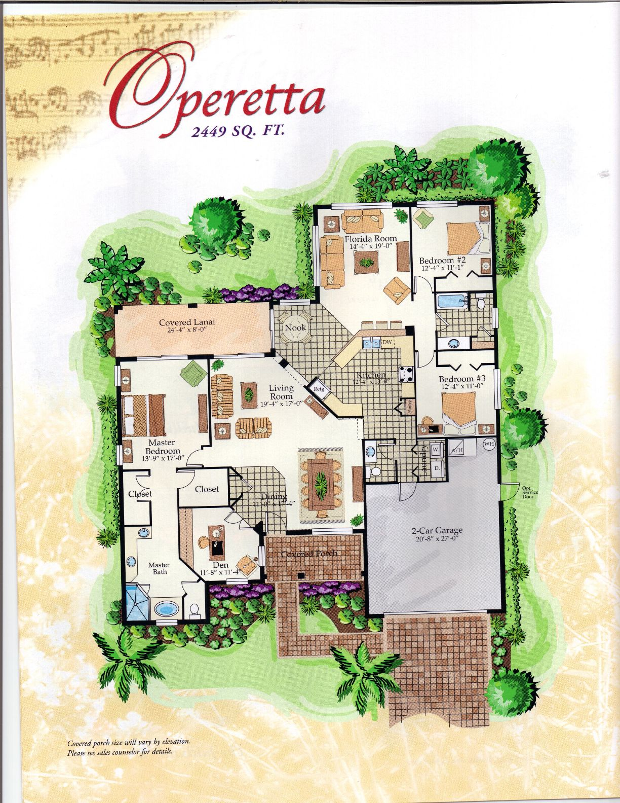 The Symphony Collection Operetta Floor Plan in Solivita Kissimmee