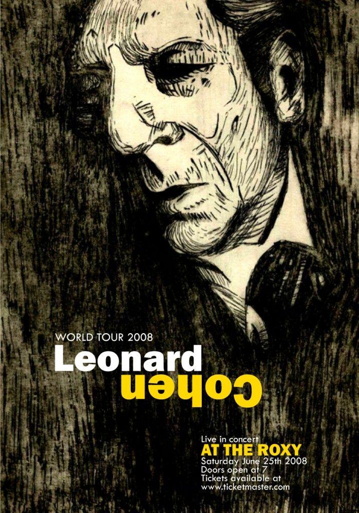 leonard cohen poster concertposters