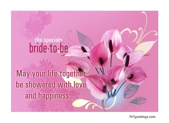 Bridal Shower Card Message Free Birthday CardsWedding Greetings