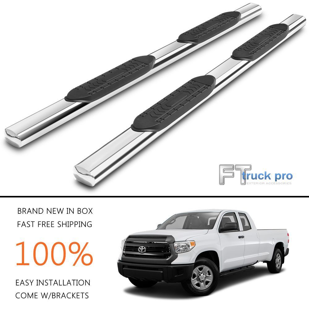 5 Nerf Bars Running Boards For 2007 2017 Toyota Tundra Double Cab 4 Door Car And Truck Parts Ford F150 Crew Cab 2013 Chevy Silverado Chevy Silverado 1500