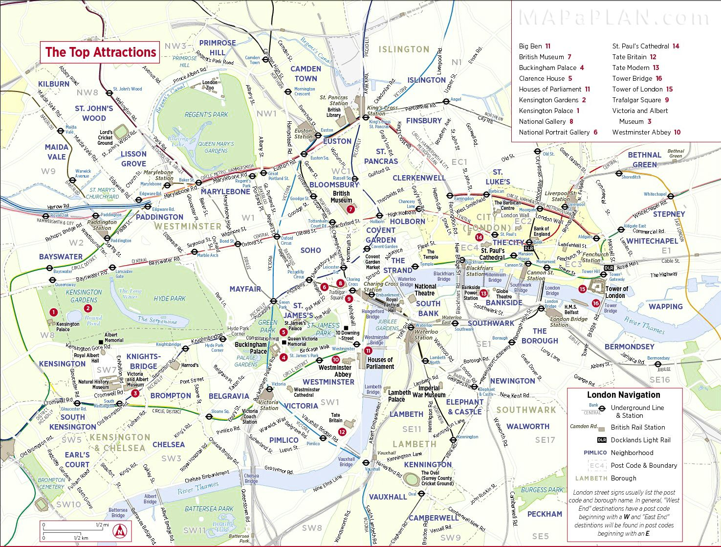london top tourist attractions map city sightseeing trip planner diverse kaarten van londen