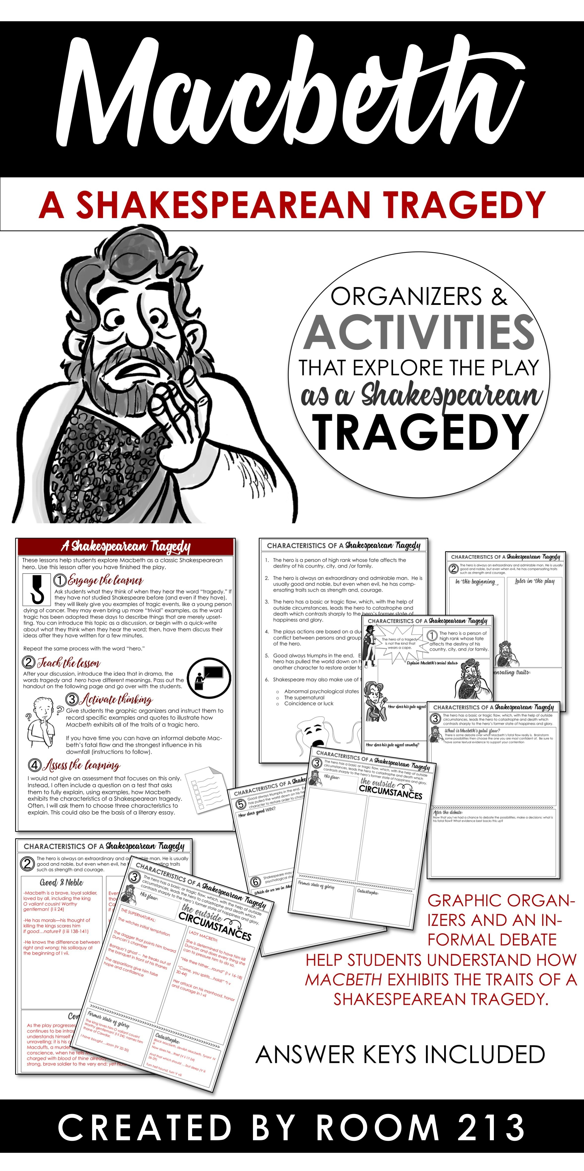 Macbeth A Shakespearean Tragedy Lesson Teaching Shakespeare Act 3 Scene 1 Analysis