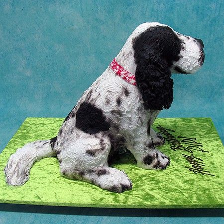 3d Spaniel Dog Cake Living Things 3d Cakes Puppy Dog Cakes