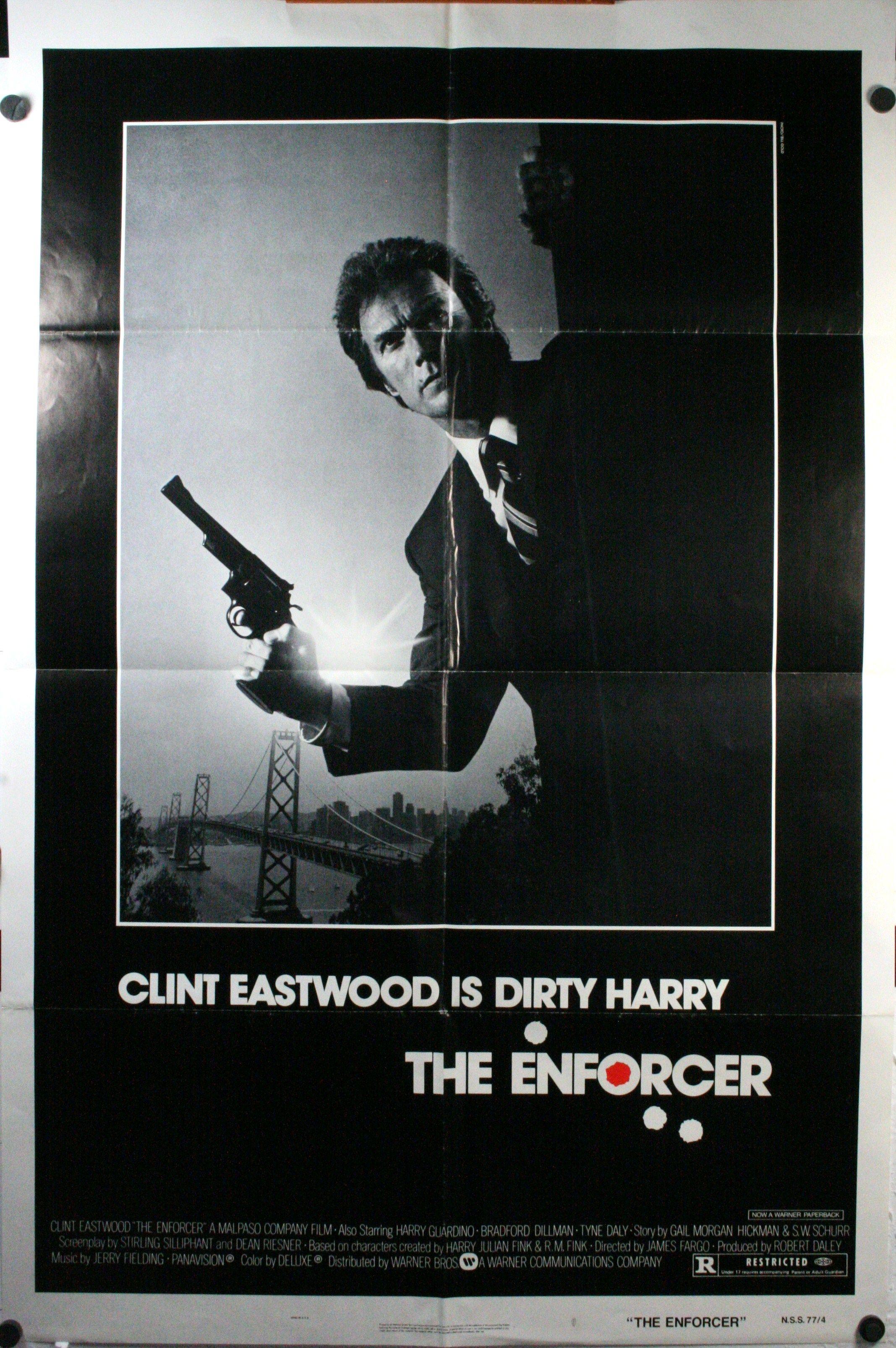 vintage movie posters   THE ENFORCER, Original Vintage Movie