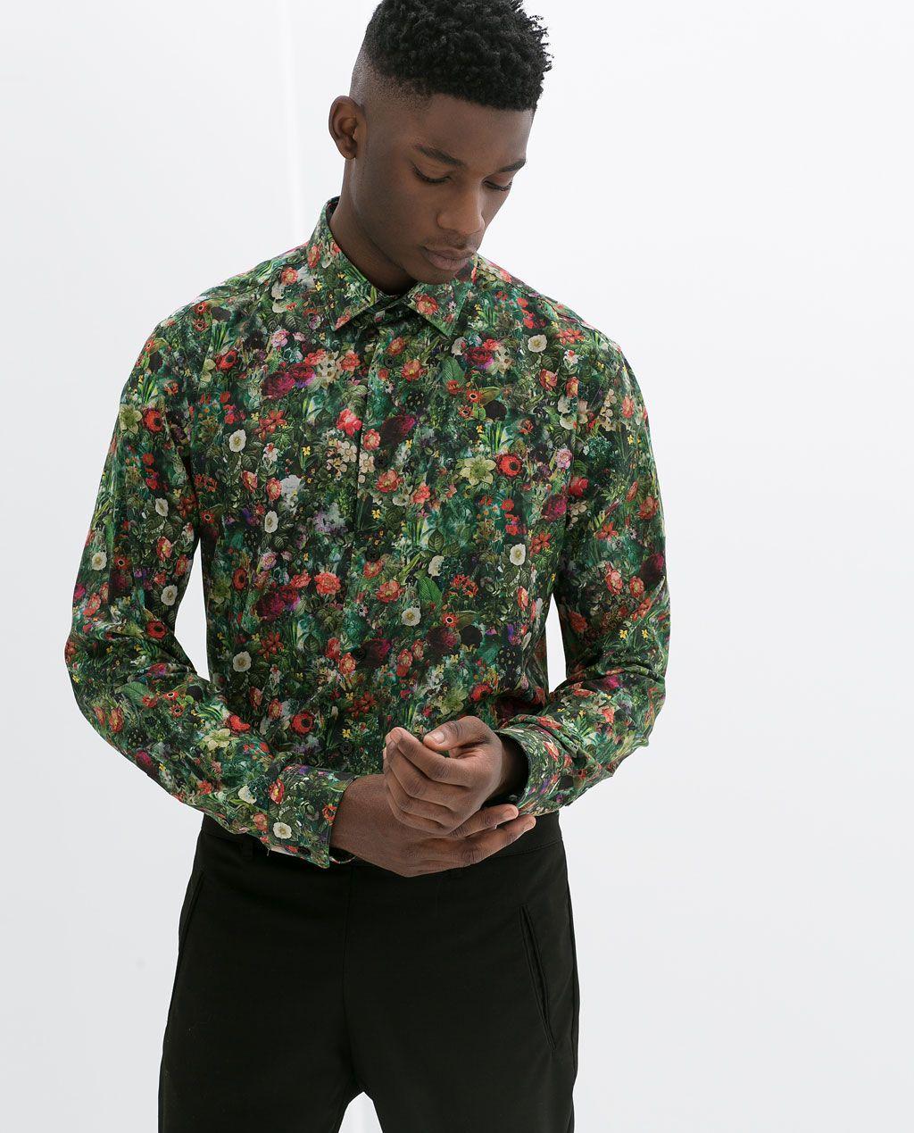 ZARA HOMBRE CAMISA ESTAMPADO SLIM FIT   Camisas estampadas