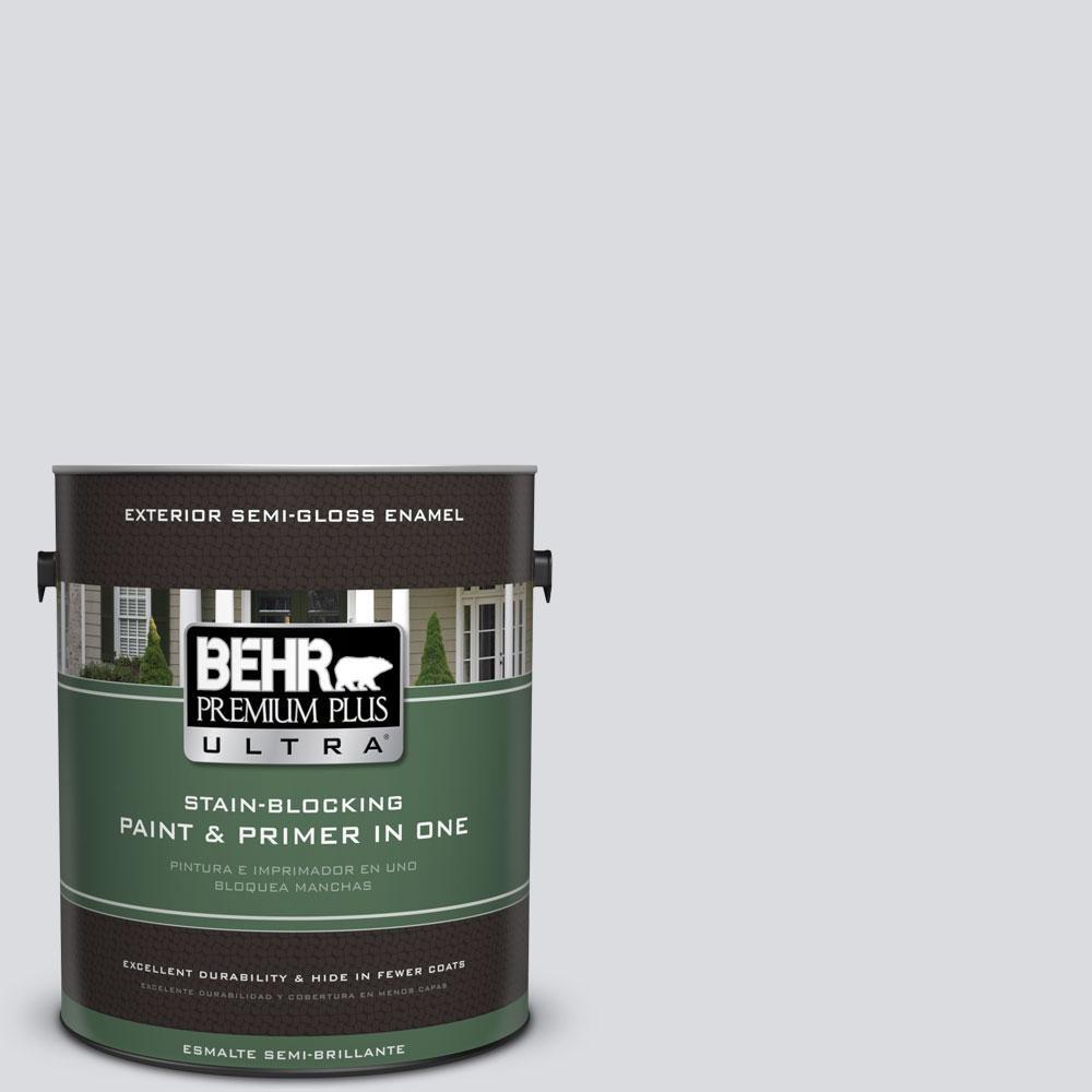 BEHR Premium Plus Ultra 1-gal. #N540-1 Script White Semi-Gloss Enamel Exterior Paint