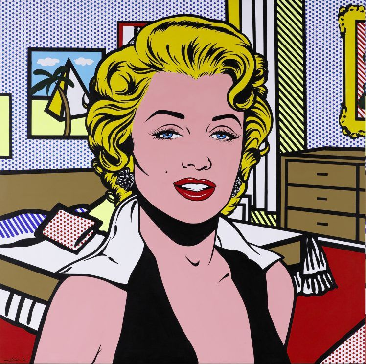 Vintage Roy Lichtenstein Pop Art Hd Wallpaper Desktop Background Lichtenstein Pop Art Pop Art Marilyn Marilyn Monroe Pop Art