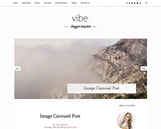 FREE BLOGGER TEMPLATE - VIBE Personal Blogger Template. Fully ...