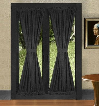 Black French Door Curtains | Colorful Curtains | Pinterest | Black ...