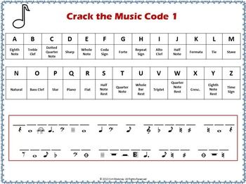 Music Puzzles: Crack the Music Code (North American terminology ...