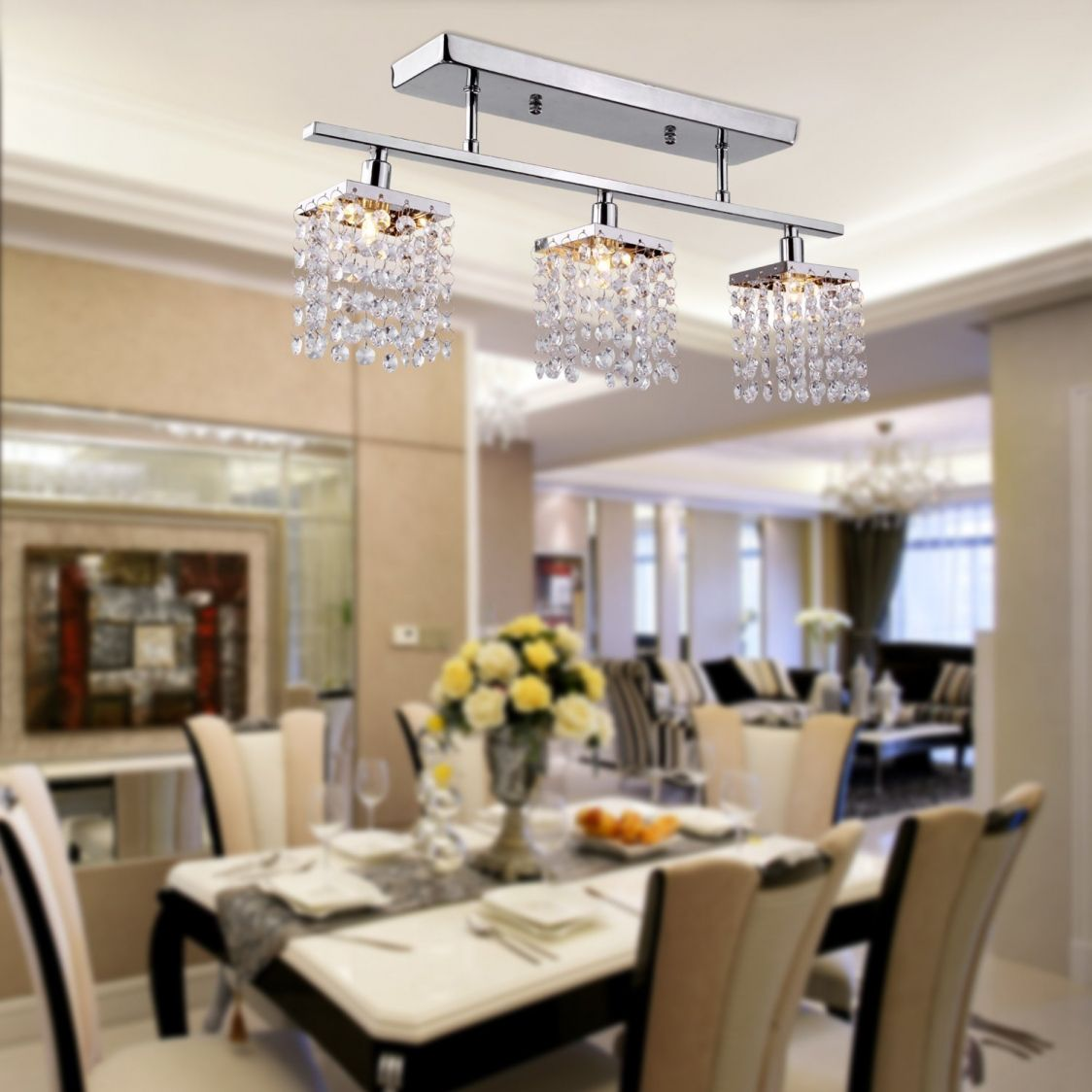 Dining Room Flush Mount Lighting  Best Quality Furniture Check Enchanting Dining Room Flush Mount Lighting Decorating Design