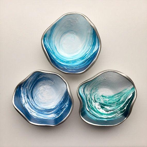 Crystal Trinket Dish Wave Trinket Dish