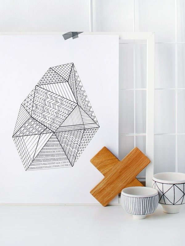Free Colouring Poster Faceted Gem We Are Scout Free Coloring Poster Colour Free Poster Printables