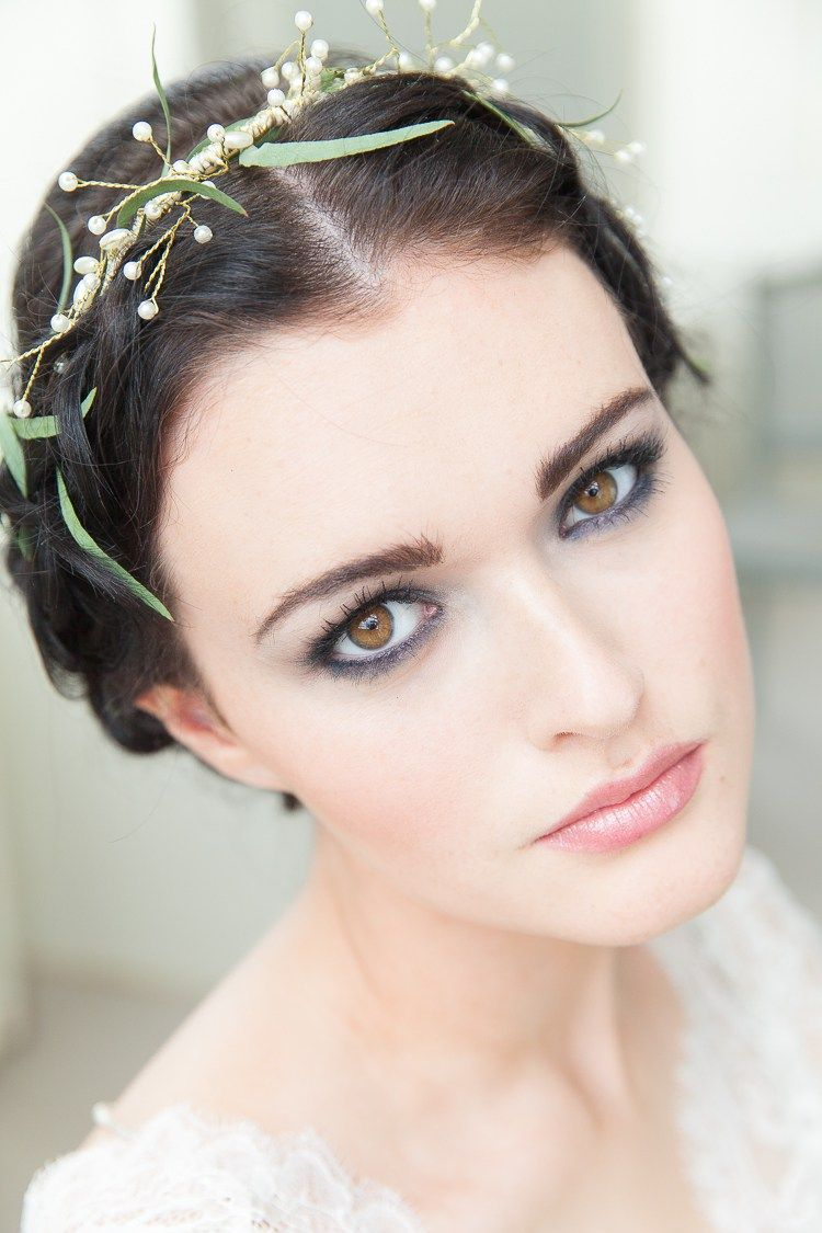 Sexy smoky eye makeup for bride | Soft Classic & Romantic Wedding Ideas via @whimwondwed, pics by McKenzie-Brown Photography