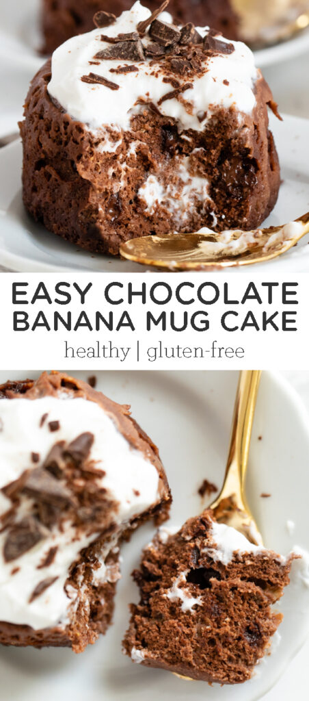 Best mug cake ever! This easy Chocolate Banana Mug Cake is ...