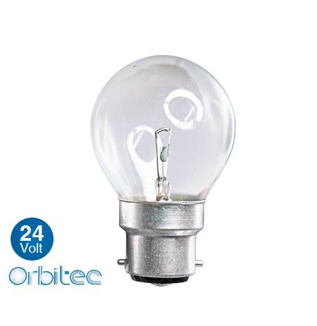 Orbitec Clear Fancy Spherique Round 40w 24v Ba22d Incandescent Lighting Light Decorations Fancy