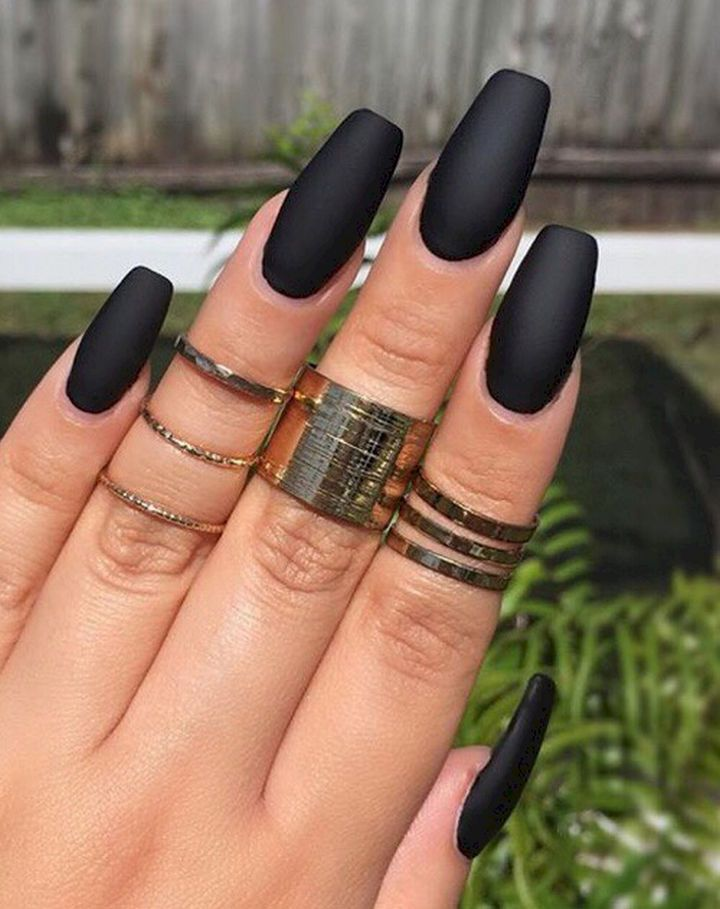 22 Elegant Black Nail Designs That Look Edgy and Chic. #10 Looks Stunning. - 22 Elegant Black Nail Designs That Look Edgy And Chic. #10 Looks