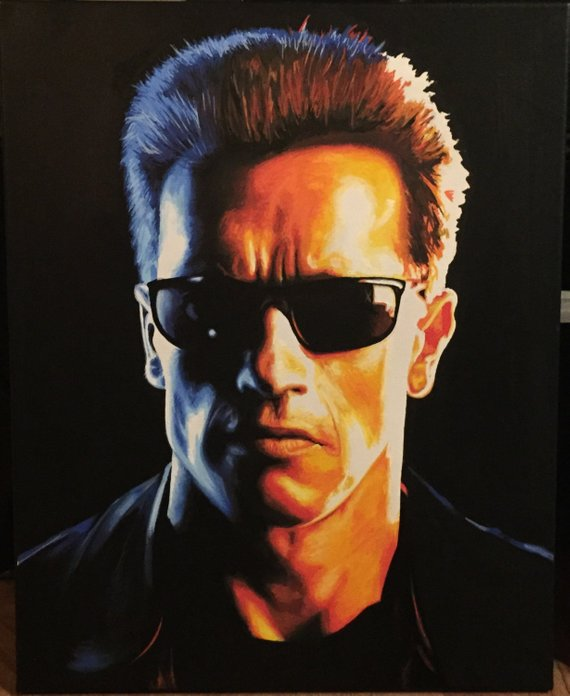 Terminate Original Paint Marker Painting Actor Arnold