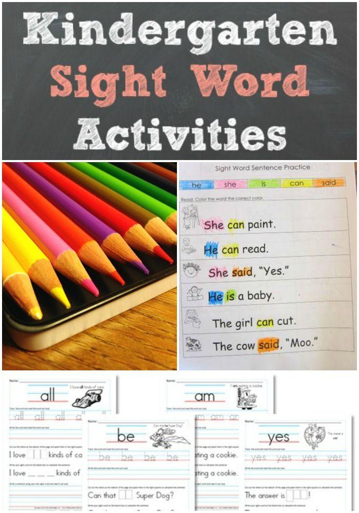 Kindergarten Sight Word Activities - Mom Favorites | Pinterest ...