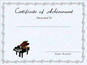 Free Editable Printable Piano Achievement Certificate Music Lessons For Kids Teaching Music Piano Teaching