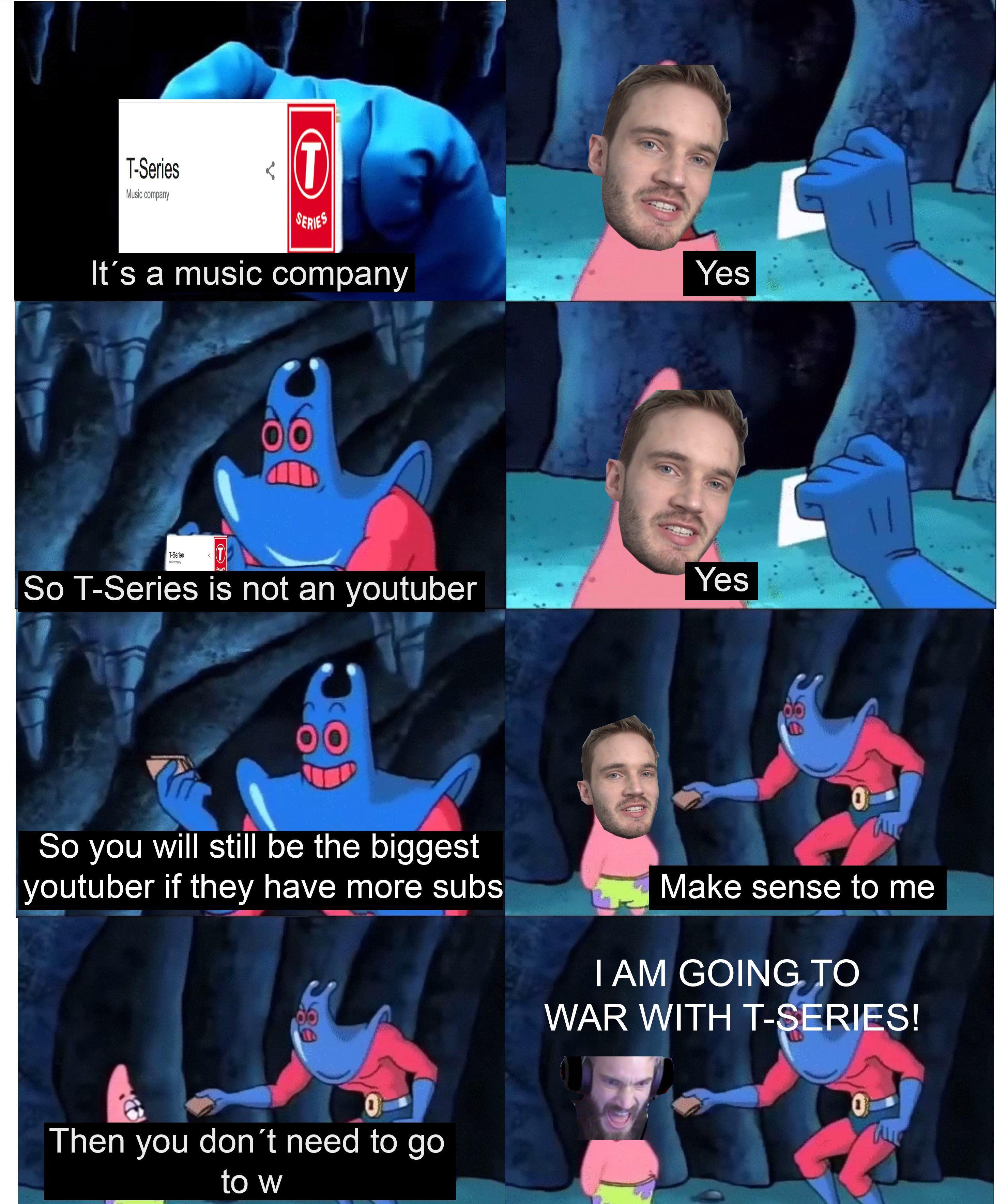 Nuke india vs tseries Funny memes, Pewdiepie youtube