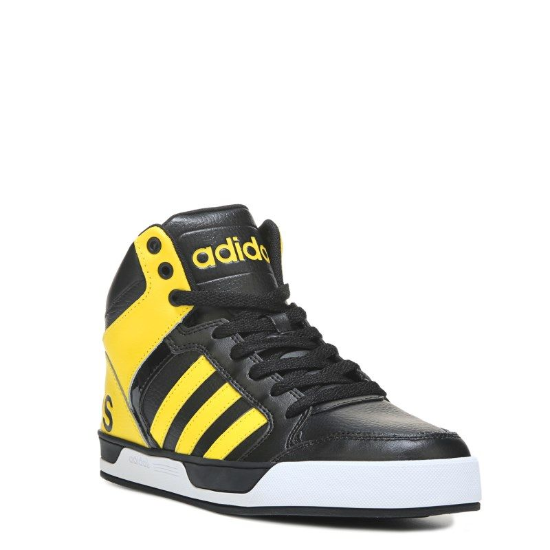Adidas Men's Neo Raleigh 9TIS High Top Sneakers (Black/Yellow/White) -