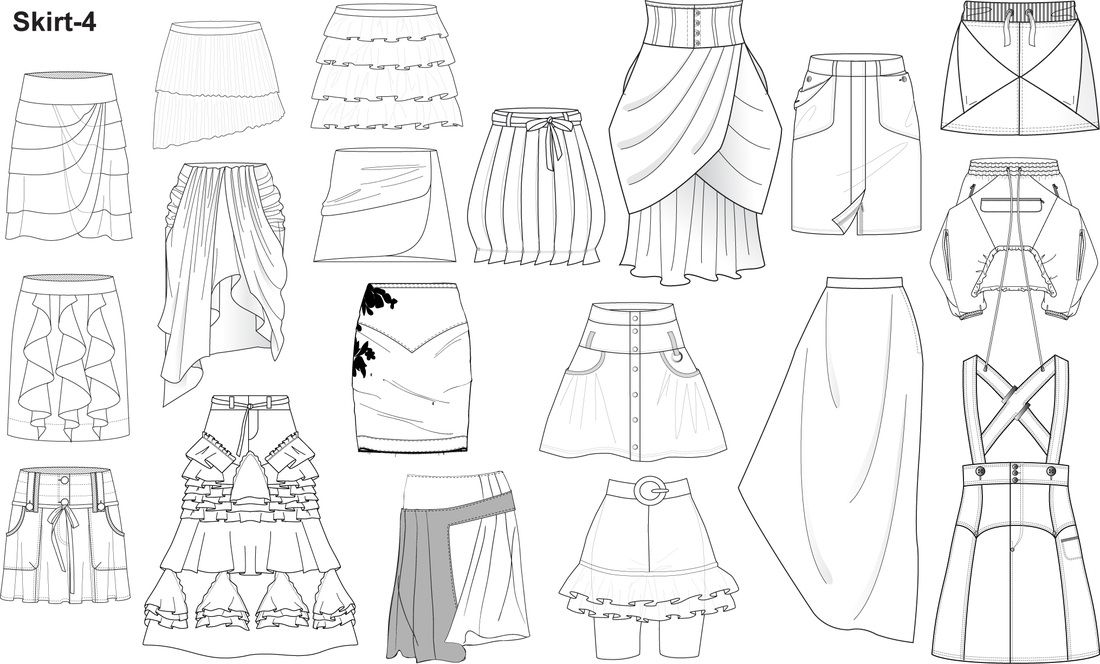 clothing templates for illustrator - plantillas moda illustrator inicio fashion design