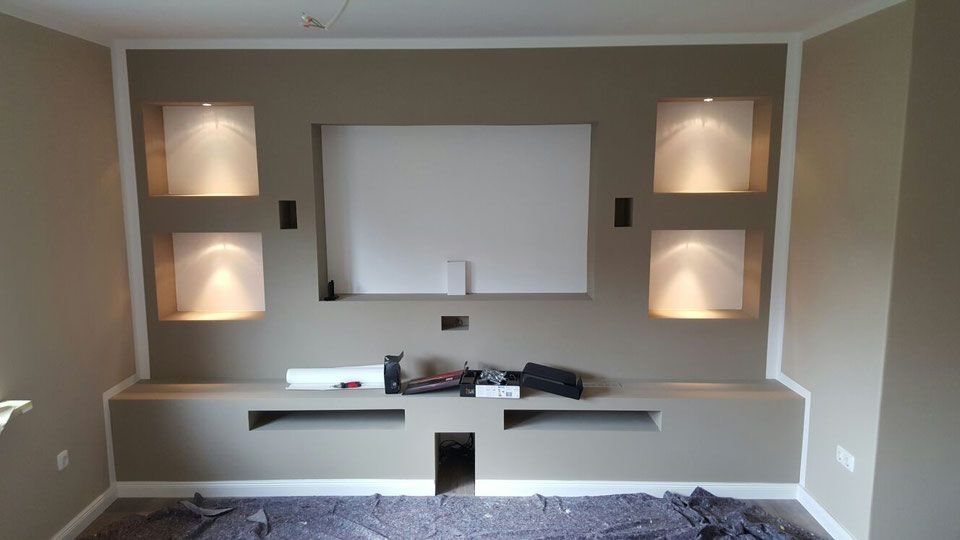 Extra Anfertigungen Fm Trockenbau Tv Wand Trockenbau Trockenbau Wohnzimmer Tv Wand Ideen