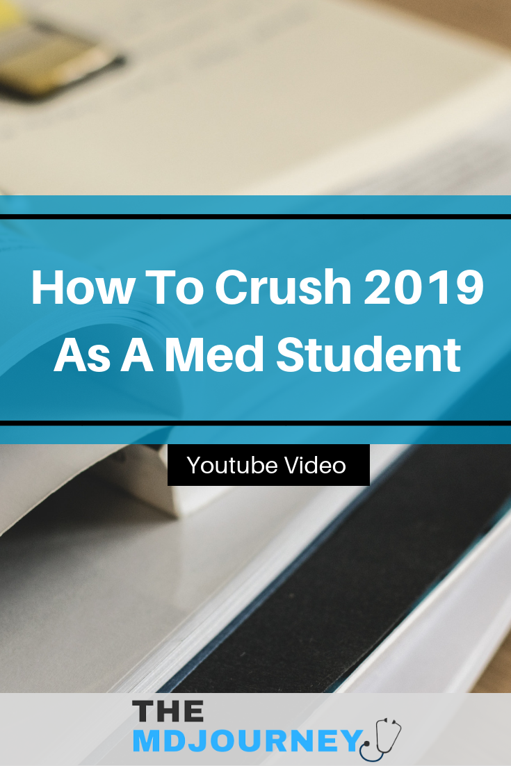 Want to do well during 2019 as a pre-med or medical student