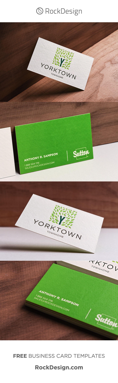 Modern Vibrant Letterpress Real Estate Business Card Yorktown Luxury Business Cards Printing Business Cards Letterpress Business Cards