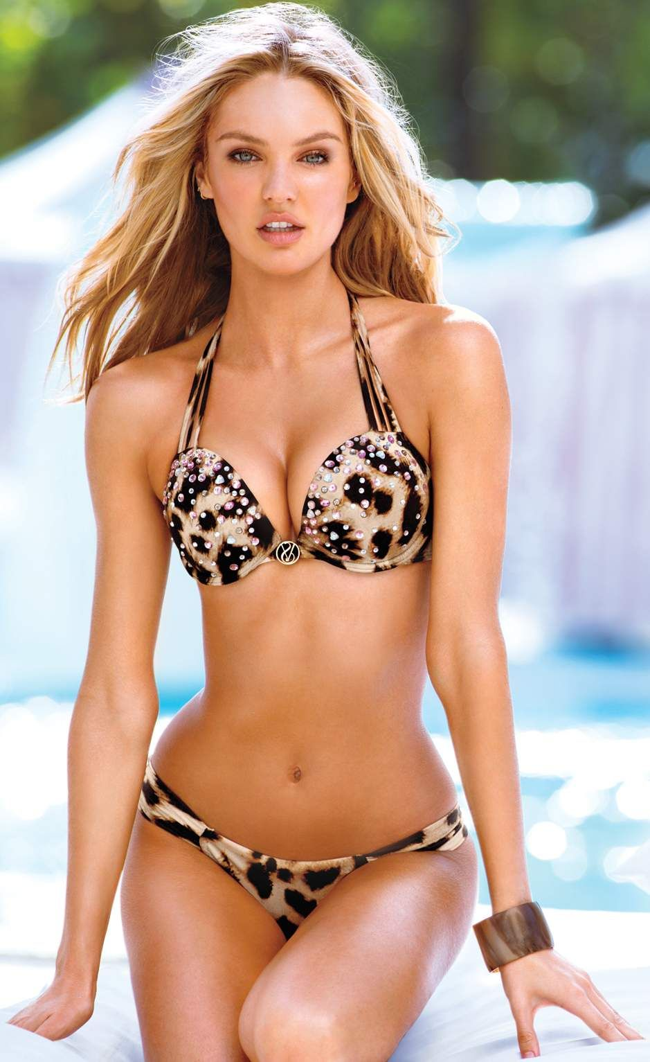 6d51089f8d Swimwear Watch  Victoria s Secret Swim Candice Swanepoel Bombshell Push Up  Halter  Bikini  Swimwear