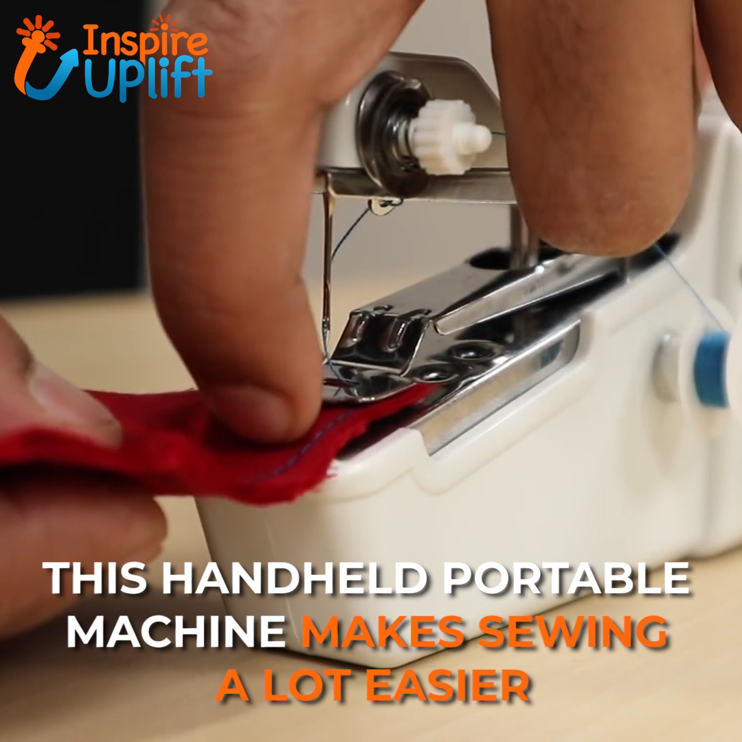 Portable Mini Sewing Machine 😍  This handy Portable Mini Sewing Machine is perfect for any job, from sewing and repairing your clothing, to interior decorating, and even working with curtains! It's so much more convenient and so much easier to use than those bulky, full-sized sewing machines. It makes any job a lot quicker and so much easier!  Currently 50% OFF with FREE Shipping!