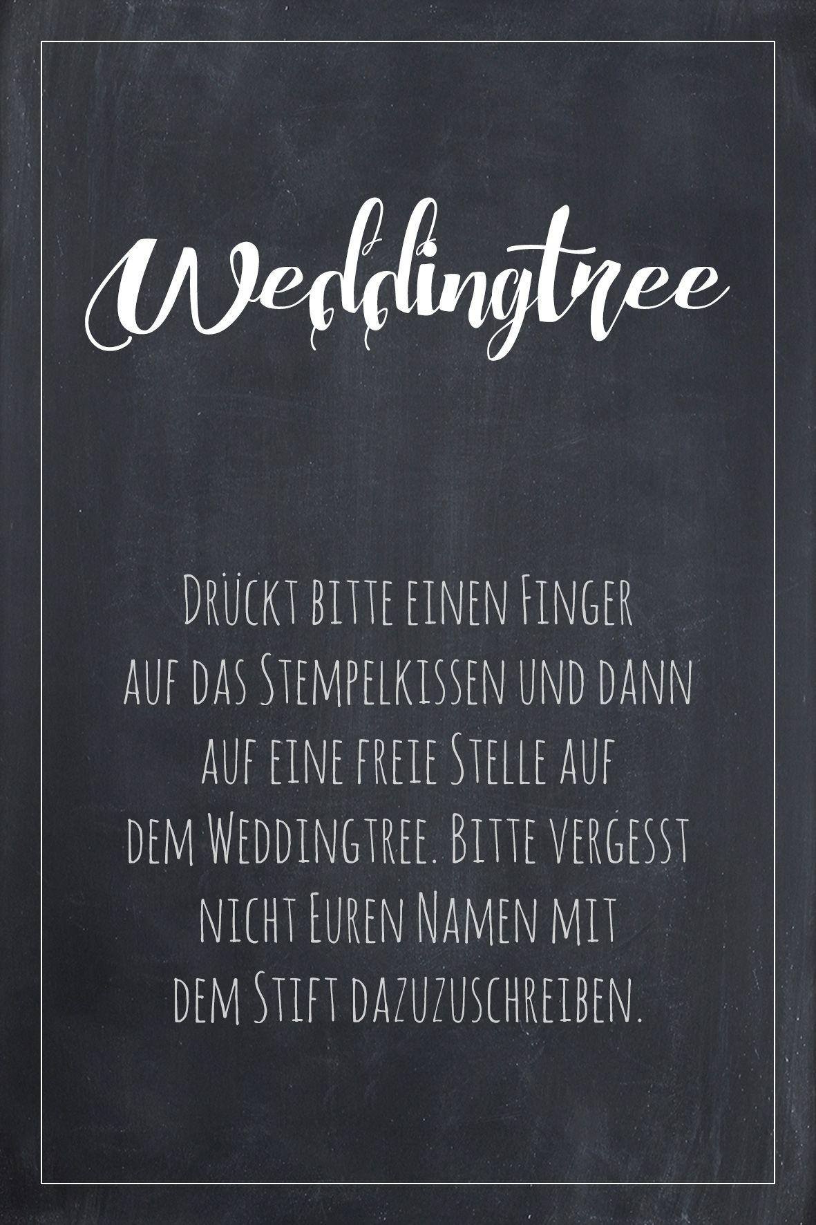Weddingtree Schild Fur Die Hochzeit Zum Kostenlosen Download Hochzeit Diy Hochzeit Fingerabdruck Hochzeit