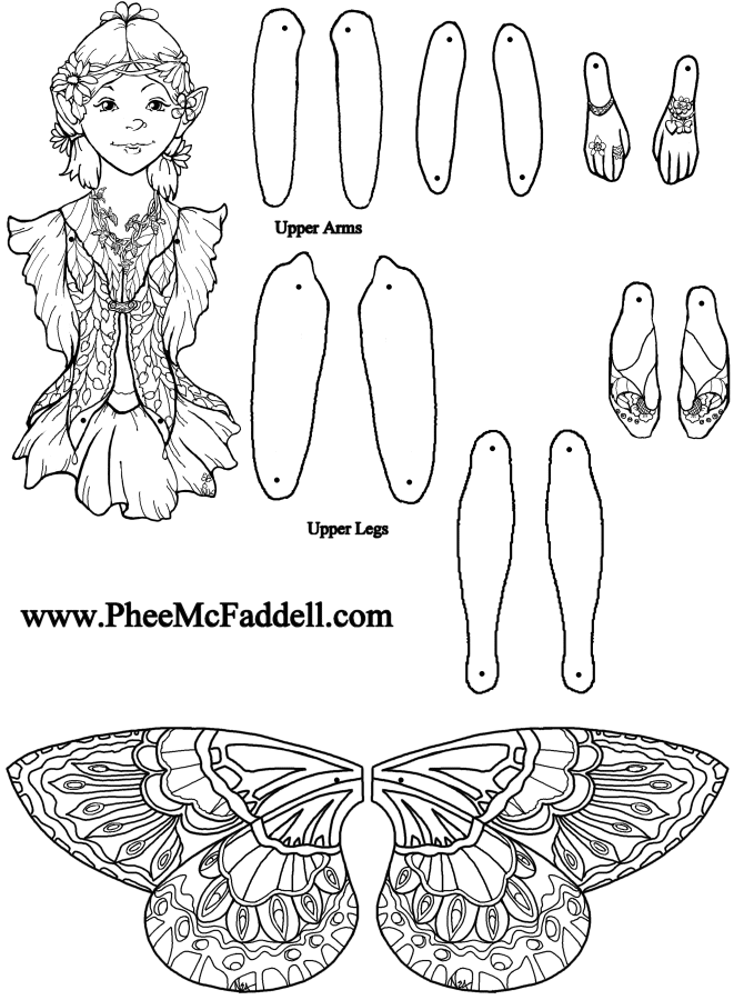 Briana Fairy Puppet Briana to Color, Cut Out, & Assemble