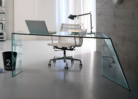 Glass Desk Office Tonelli Penrose Glass Homeoffice Desk  Bring A Touch Of Glamour