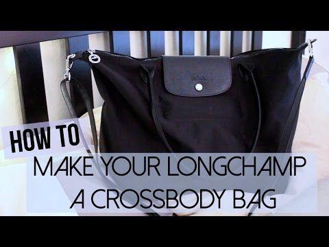 35425c0b8 DIY Crossbody Longchamp Le Pliage Bag! - YouTube | DIY Diva ...