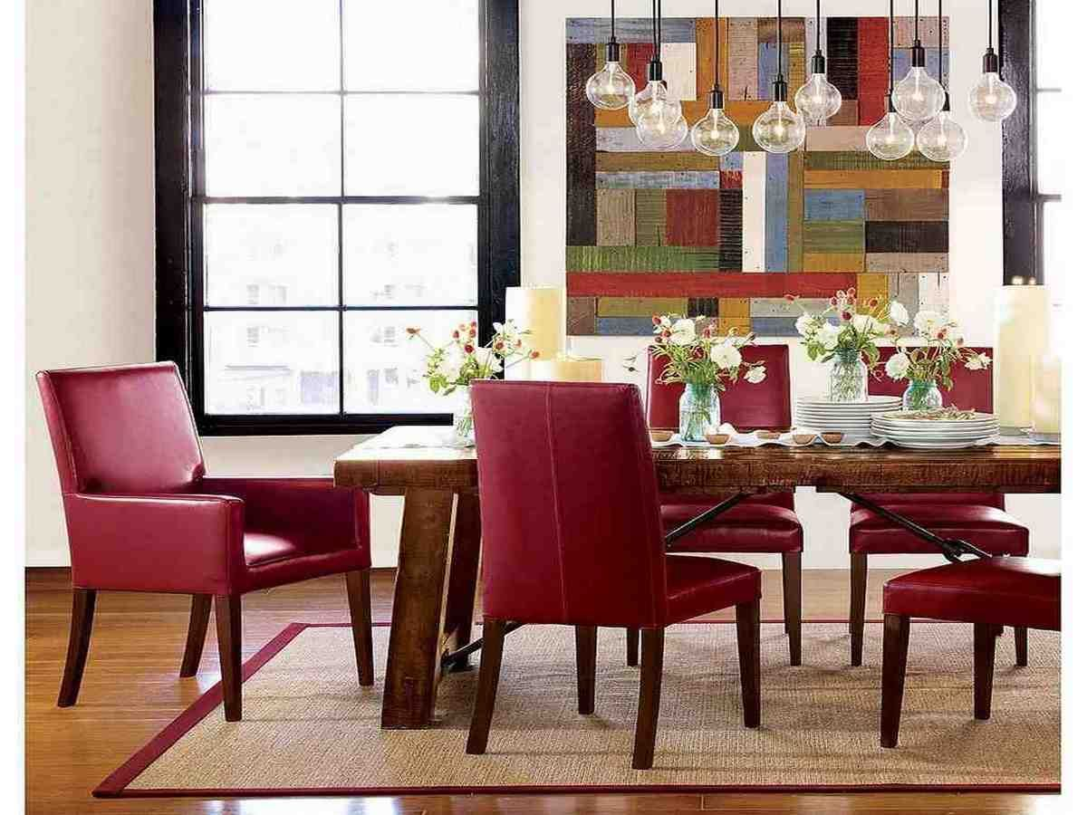 Red Leather Dining Room Chairs Leather Dining Room Chairs