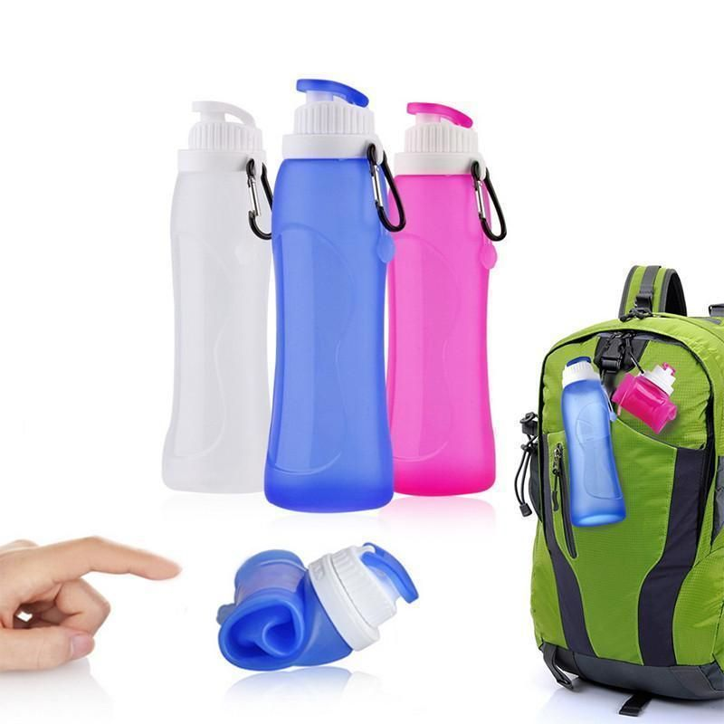 Collapsible Drink Bag Pouch Water Bottle Flexible Hiking Sport Hot Sale