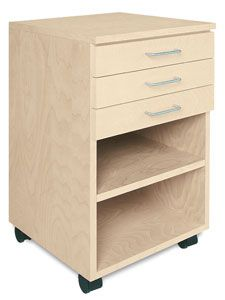 3-Drawer Taboret   Studio ideas   Home office furniture