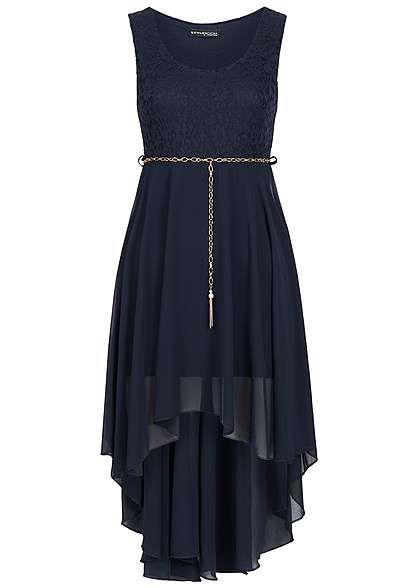huge selection of 4e0c6 19d08 Styleboom Fashion Damen Kleid Vokuhila Spitze Gummizug mit ...