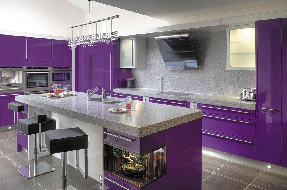 Purple Kitchen Ideas For Unique And Modern Look Diy Home Art Purple Kitchen Purple Kitchen Designs Purple Kitchen Utensils
