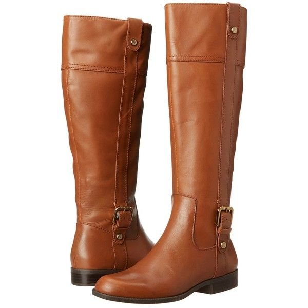 Anne Klein Cijiw - Wide Calf (Cognac Leather) Women's Boots ($85) ❤