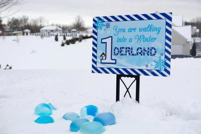 Boys Winter Wonderland Birthday Party Ideas First Birthday