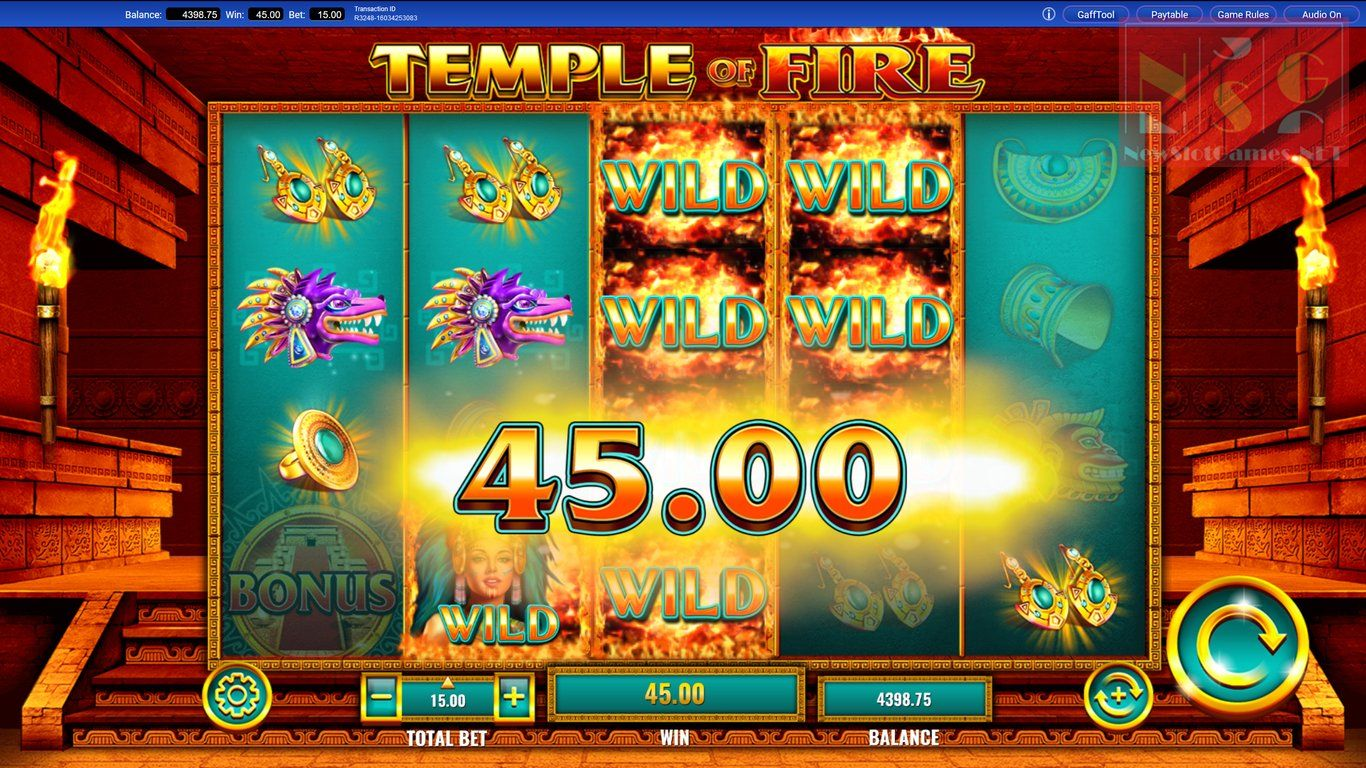Temple Of Fire Casino Game