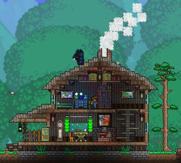 Terrarium Terraria House Design: Endrael's Rugged House