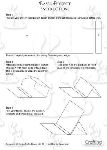 Easel Card Instructions Easel Cards Card Patterns Card Tutorials