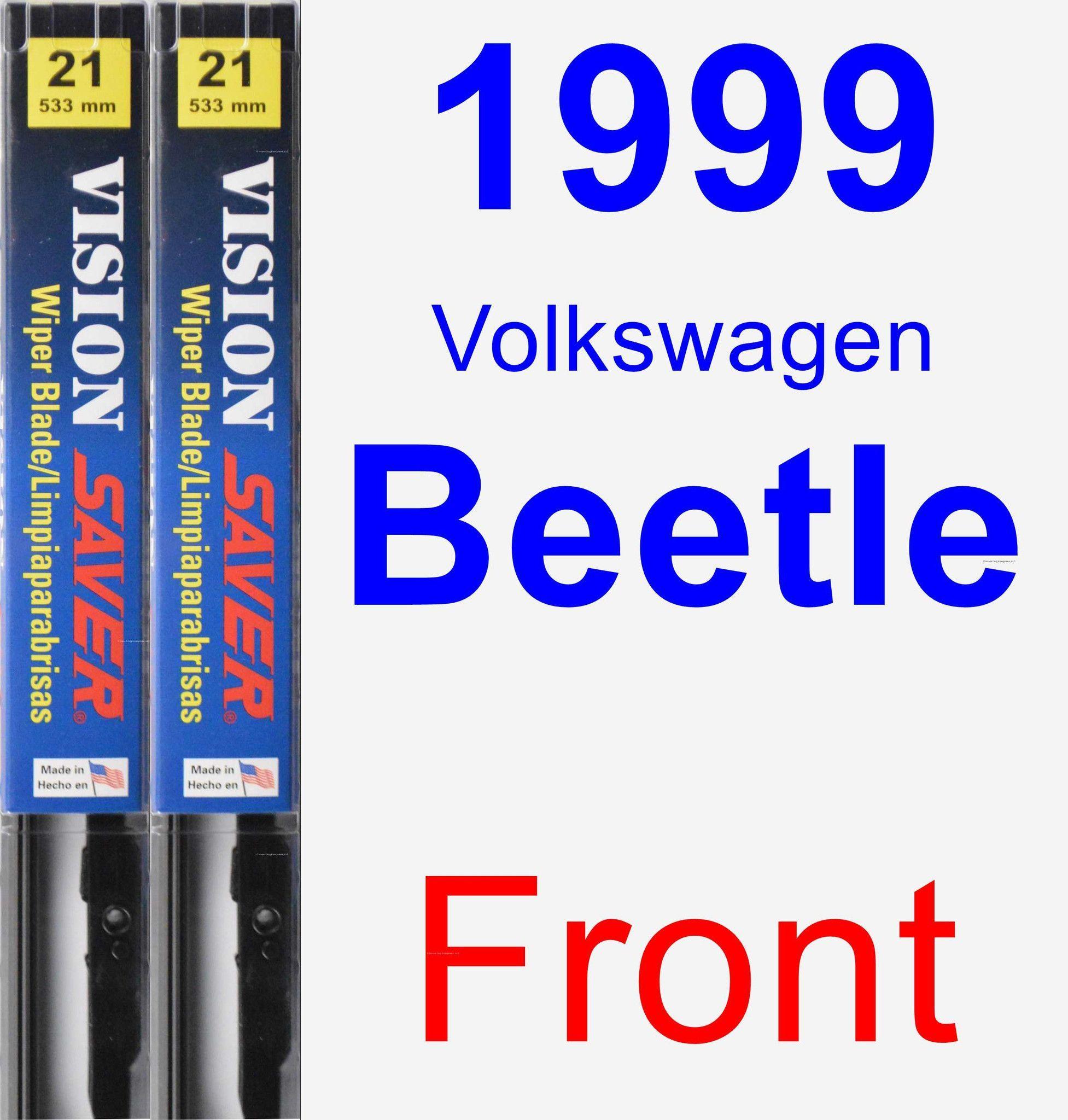 Front Wiper Blade Pack for 1999 Volkswagen Beetle - Vision Saver