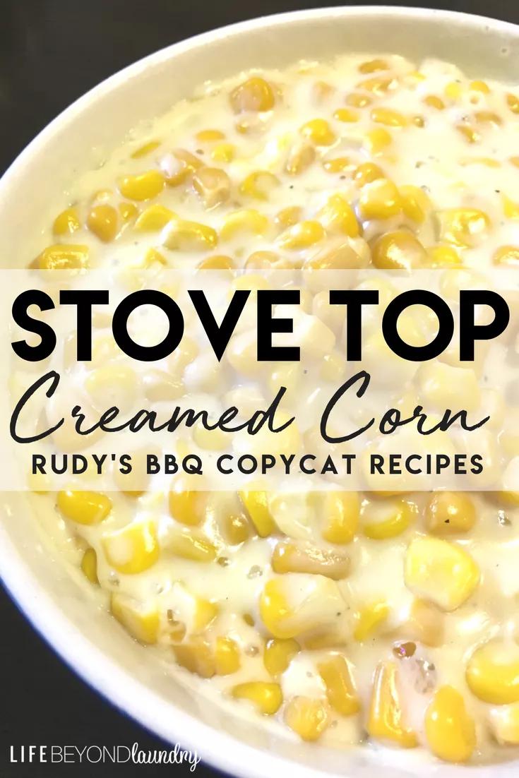 Stove Top Creamed Corn -
