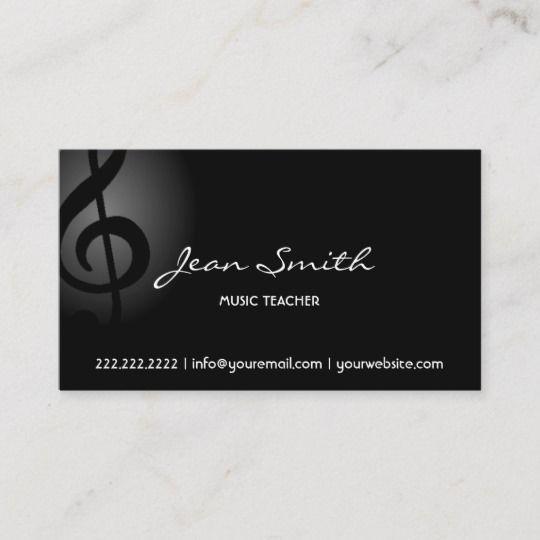 Music Teacher Elegant Dark Clef Business Card Zazzle Com Business Card Musician Music Business Cards Teacher Business Cards